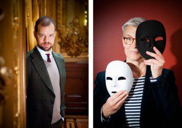 Foto av Eva Dalin, porträtt för Stockholms universitet, Axel Englund: Forskare litteraturvetenskap, Tina Rosenberg professor teatervetenskap