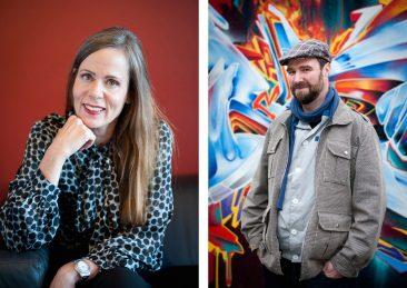 Stockholms universitet: Sara Danius professor litteraturvetenskap,  Jacob Kimvall graffitiforskare och konstvetare