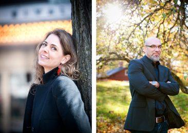 Sthlm universitet: Rebecca Forsberg regissör och konstnärlig ledare och Nihad Bunar professor barn och ungdomsvetenskap
