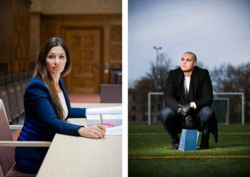 Stockholms universitet: Elisabeth Massi Fritz, advokat samt Amir juridikstudent