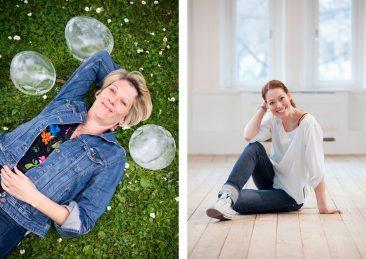 Stockholms universitet: Nina Kirchner, polarforskare. Till vänster:  Porträtt Alexandra Frank design