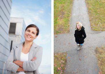 Stockholms universitet: Ilona Riipinen, klimatforskare samt Tina Larsson , Studievägledare
