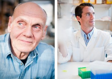 Stockholms universitet: Leif Bäcklin, konstruktör forskningsinstrument, Rob Daniels forskar på virus