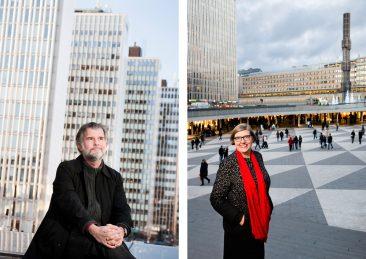 Stockholms universitet: Martin Rörby, arkitekturhistoriker samt Astrid Söderbergh Widding, rektor på universitetet